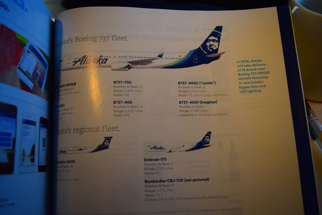 Review of Alaska Airlines flight from Los Angeles to