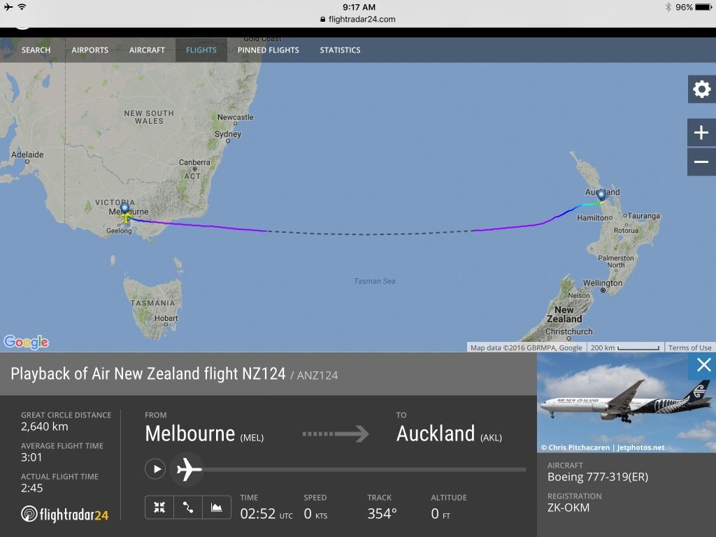 Review of Air New Zealand flight from Melbourne to Auckland in Business