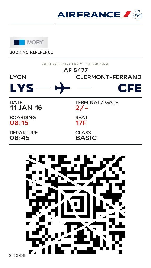 Review of Air France Hop flight from Lyon to Clermont-Ferrand in Economy