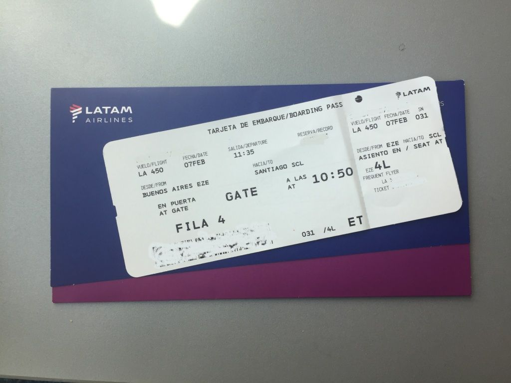 Review Of Latam Flight From Buenos Aires To Santiago In Economy