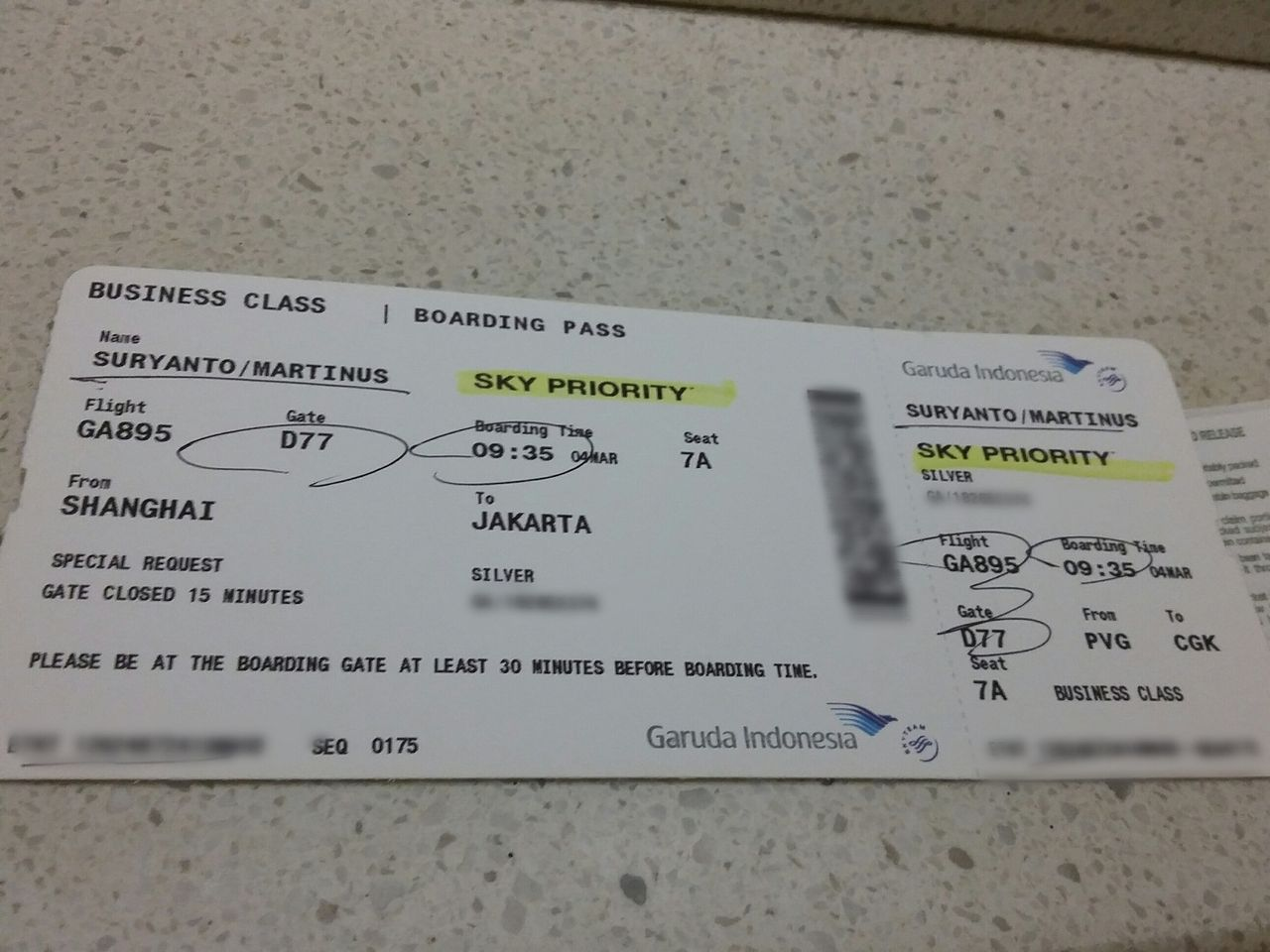 Review Of Garuda Indonesia Flight From Shanghai To Jakarta In Business