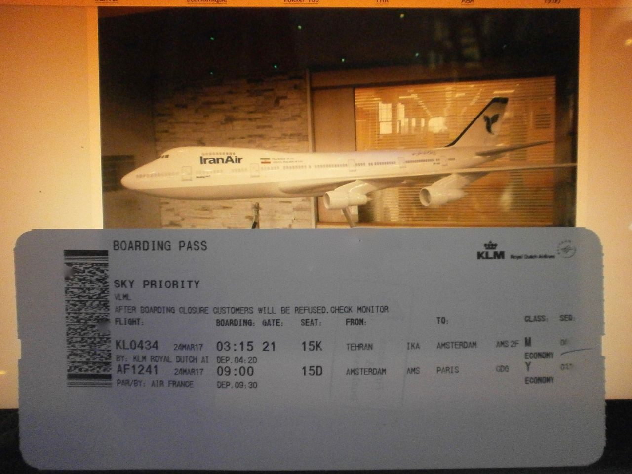 photo boarding pass