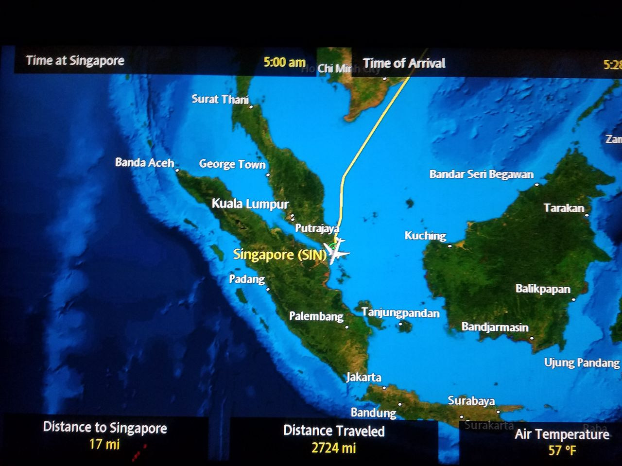Review of Singapore Airlines flight from Shanghai to Singapore in First
