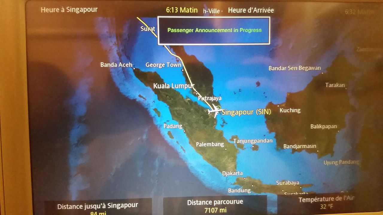 Review of Singapore Airlines flight from Paris to Singapore in Economy