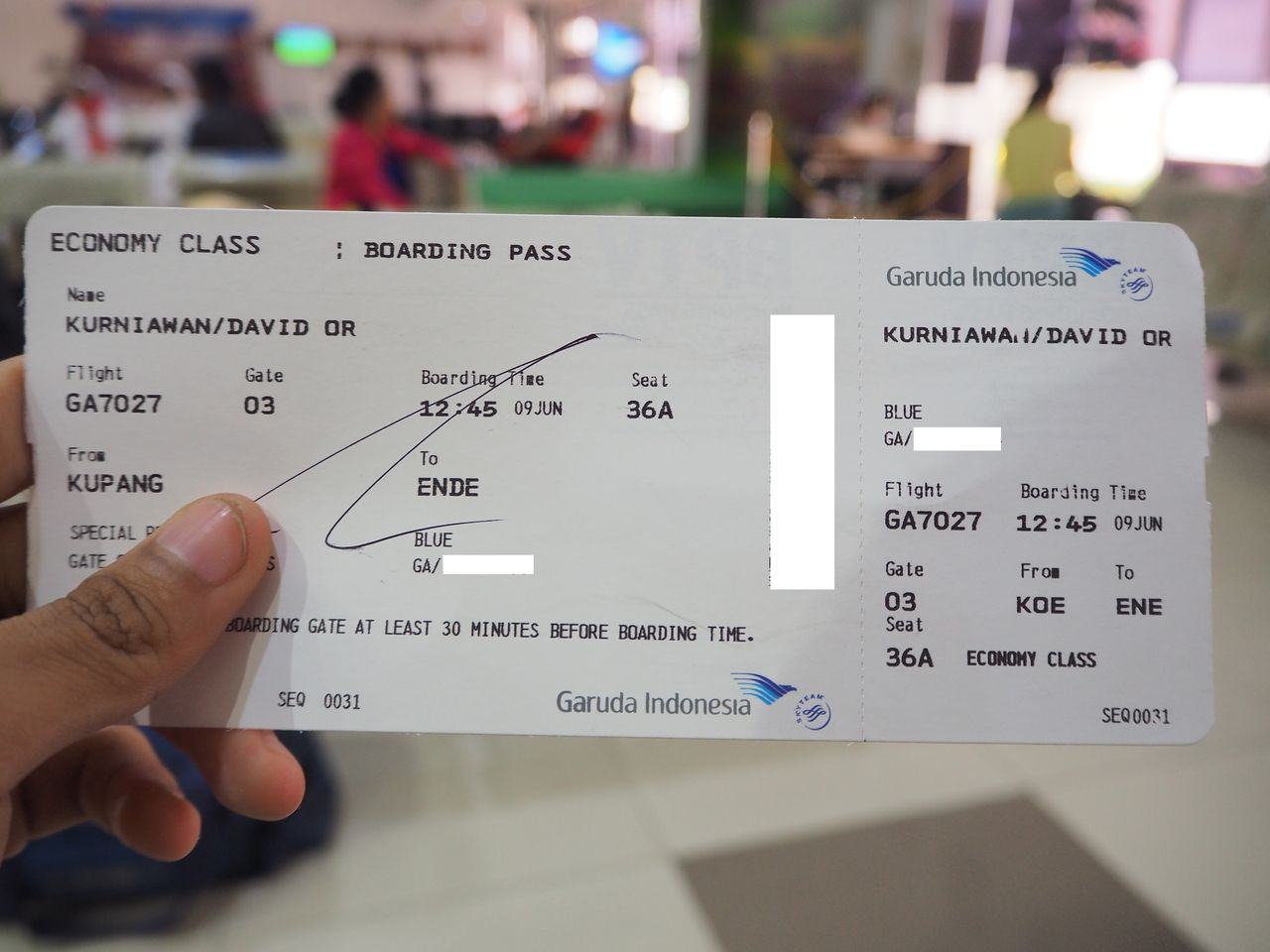 Review Of Garuda Indonesia Flight From Denpasar To Ende Flores