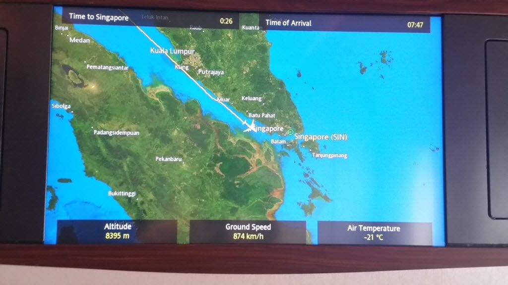 Review of Singapore Airlines flight from Mumbai to Singapore in First