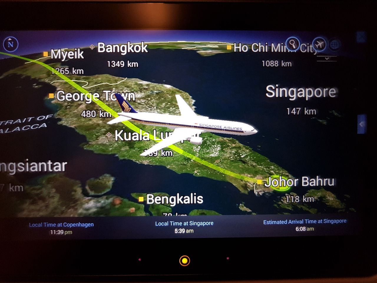 Review of Singapore Airlines flight from Copenhagen to Singapore in ...