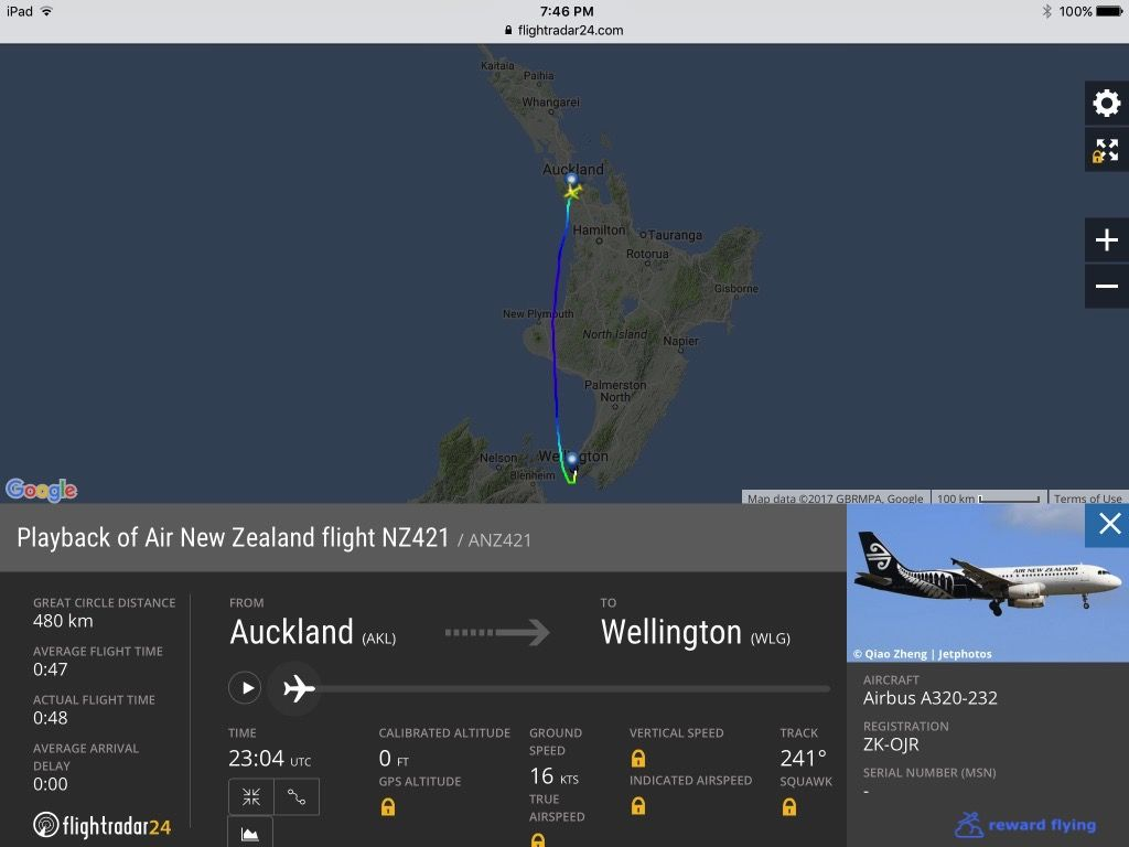 photo nz421 flight path