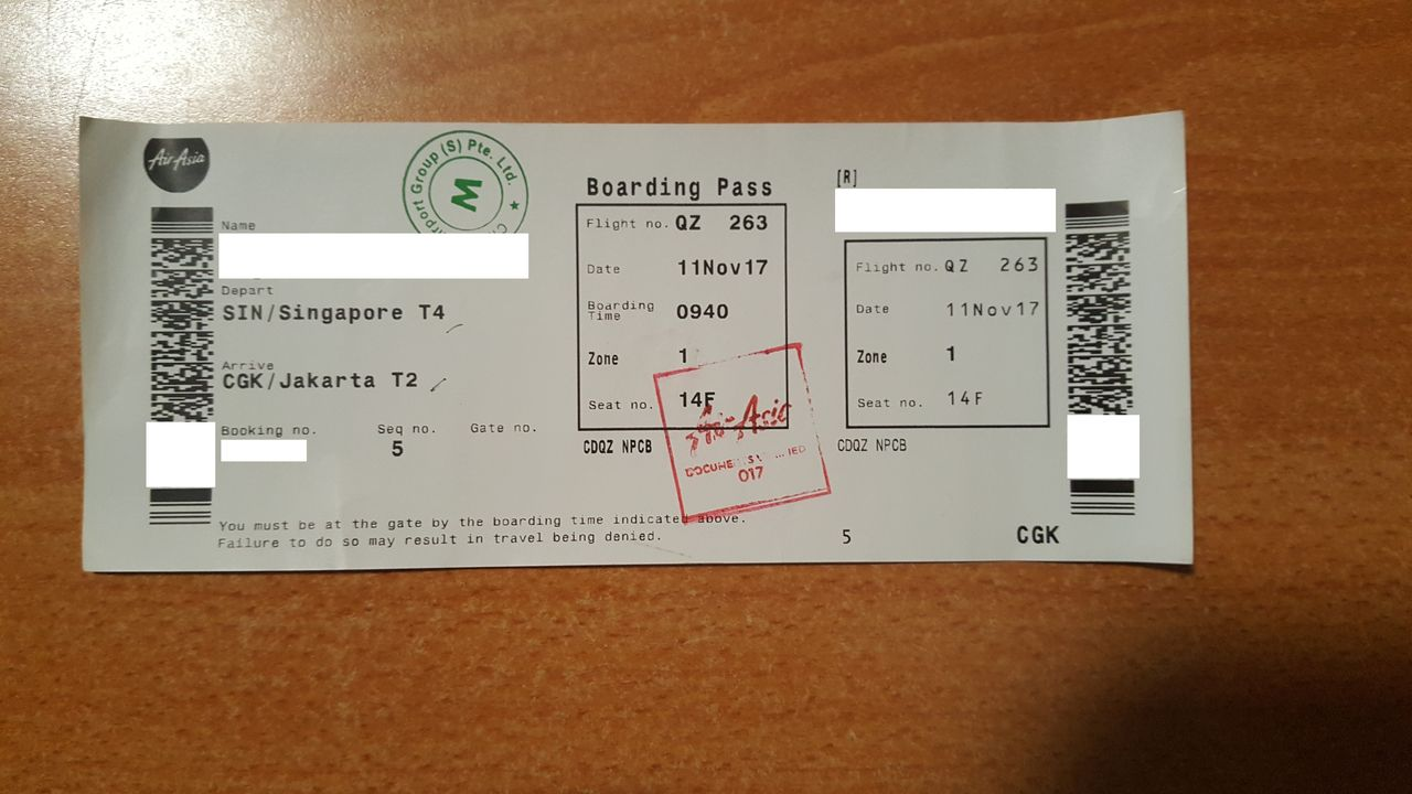 Review of Indonesia AirAsia flight from Singapore to Jakarta in Economy