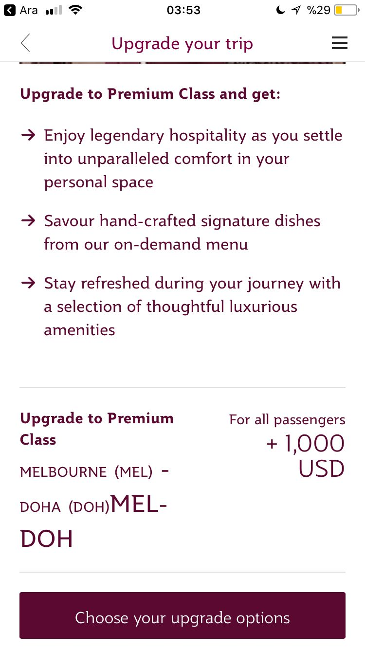 Review Of Qatar Airways Flight From Melbourne To Doha In Economy