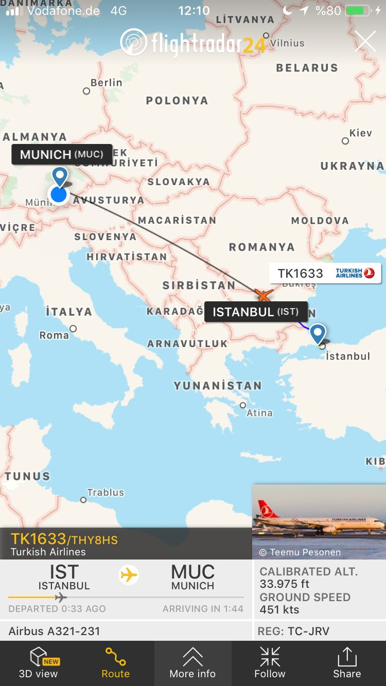 Review of Turkish Airlines flight from Munich to Istanbul in ...