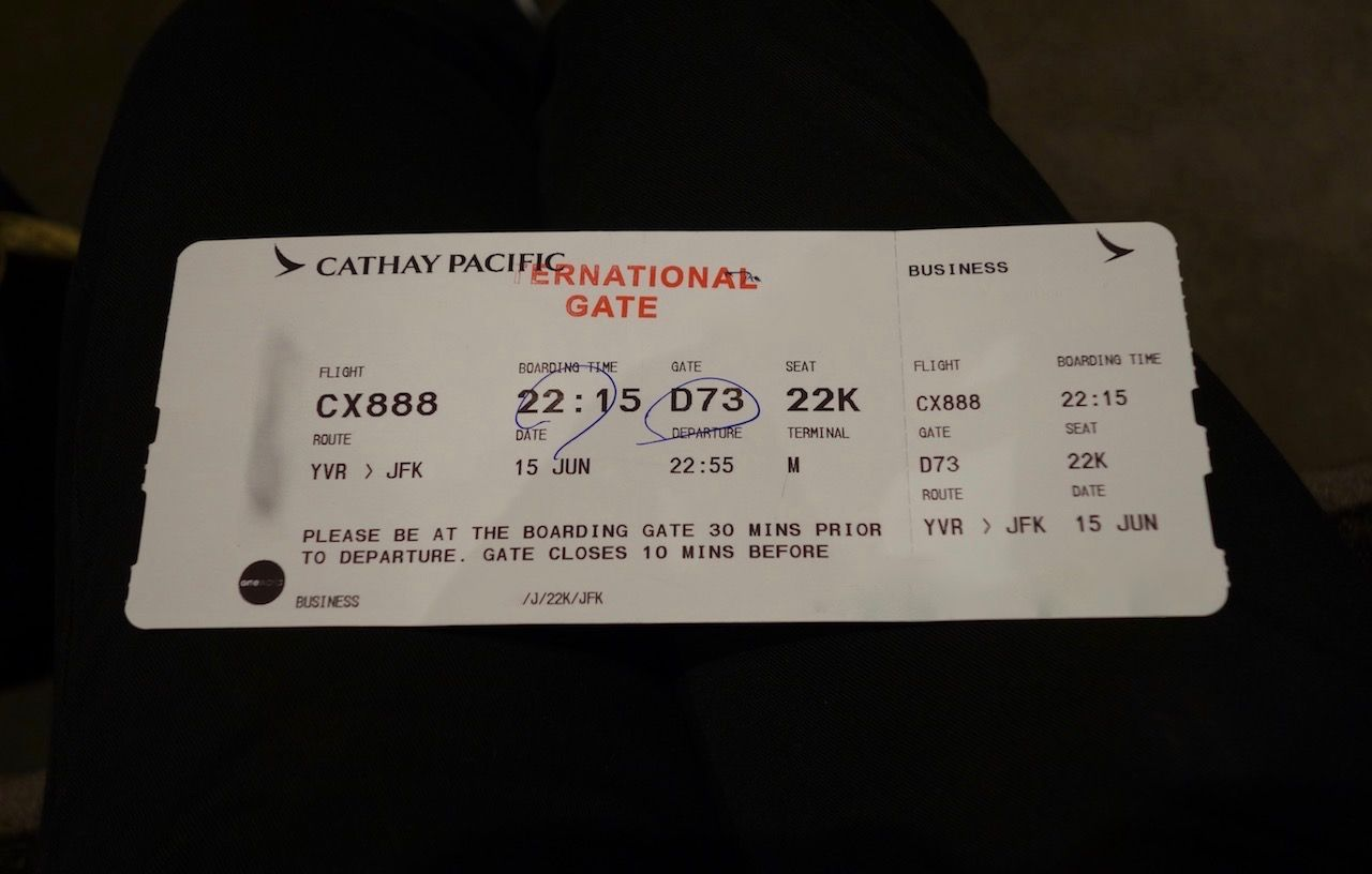 Review Of Cathay Pacific Flight From Vancouver To New York In Business