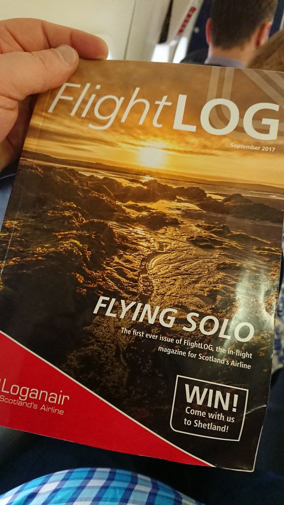 photo loganair inflight mag