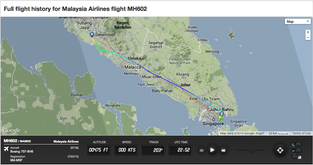 Review of Malaysia Airlines flight from Singapore to Kuala Lumpur in ...