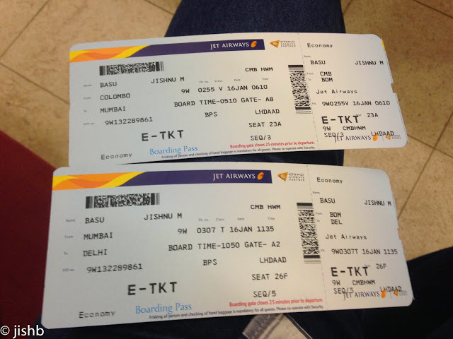 Review Of Jet Airways Flight From Colombo To Mumbai In Economy