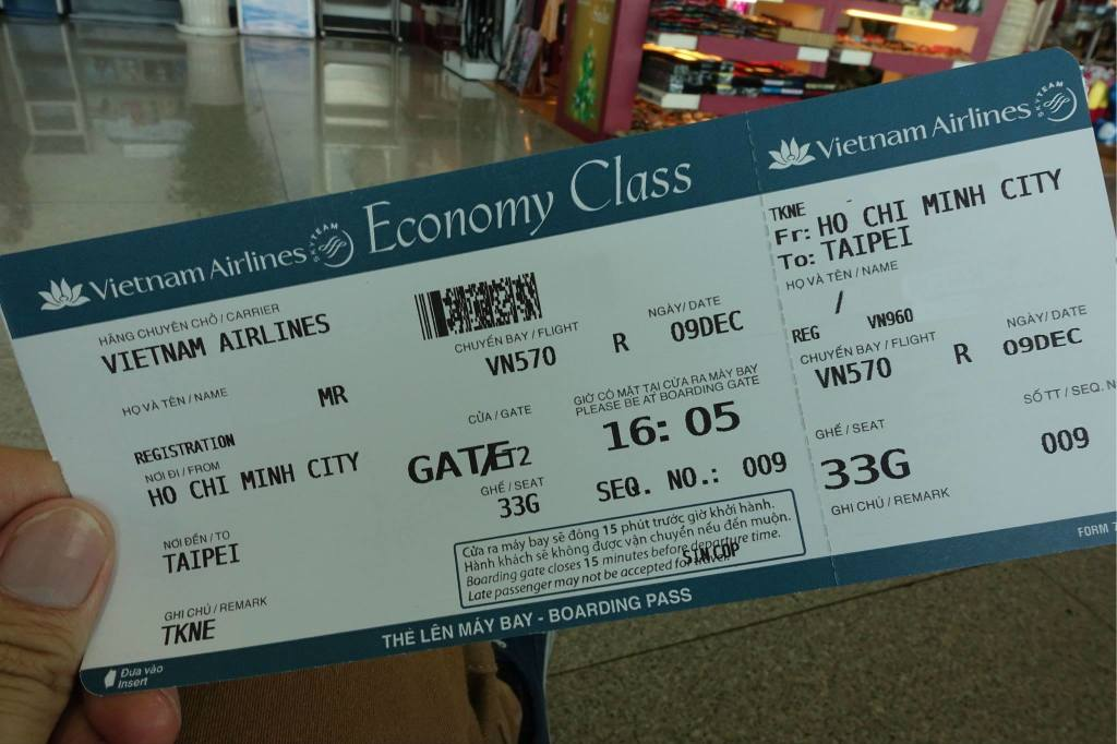 Review Of Vietnam Airlines Flight From Ho Chi Minh City To Taipei In