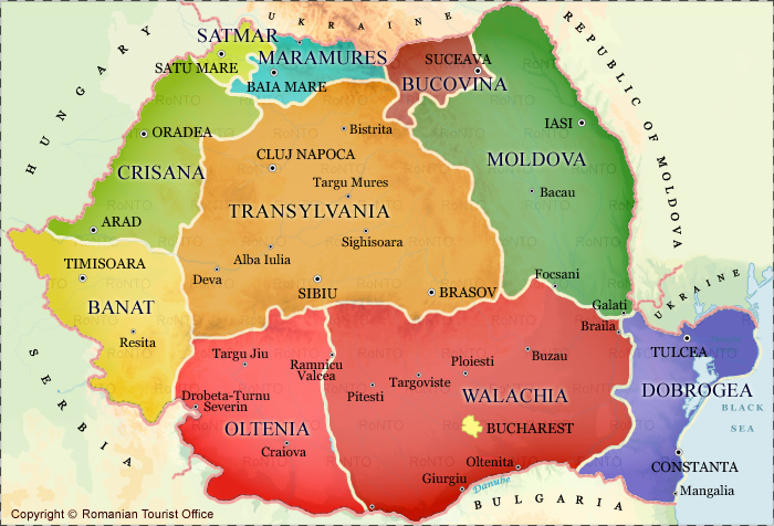photo romania-regions-map