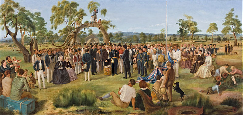 photo 800px-Charles_Hill_-_The_Proclamation_of_South_Australia_1836_-_Google_Art_Project