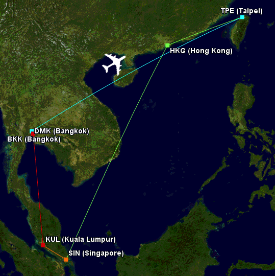 photo 001 Flight Map (8-10 May) EDITED