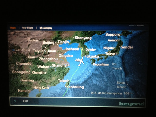 Review of Korean Air flight from Singapore to Seoul in Economy