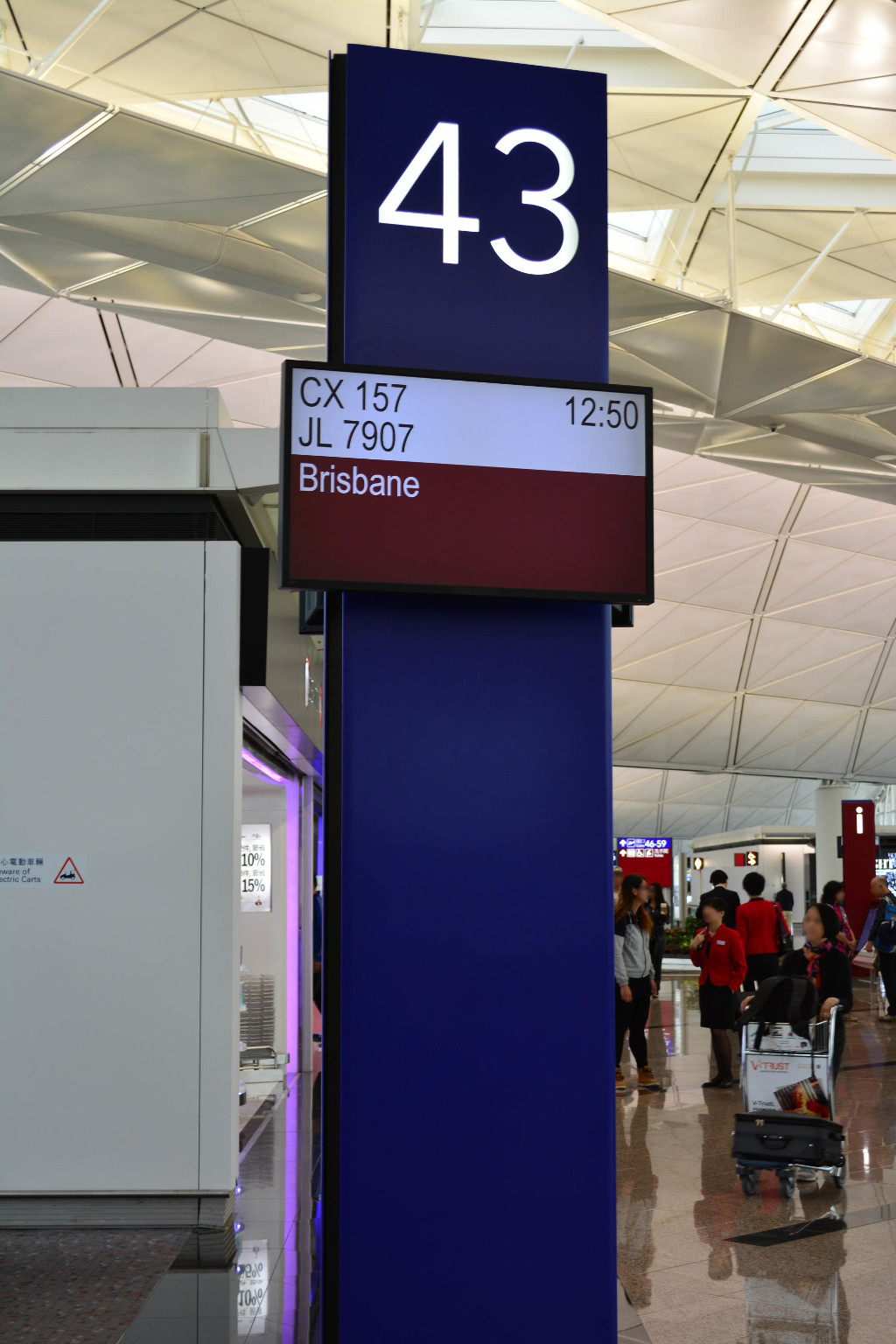 Review of Cathay Pacific flight from Hong Kong to Brisbane in Economy