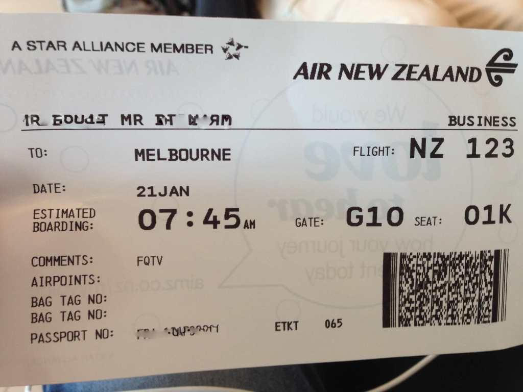 Review Of Air New Zealand Flight From Auckland To Melbourne In Business