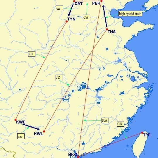 photo guizhou flights map Merged