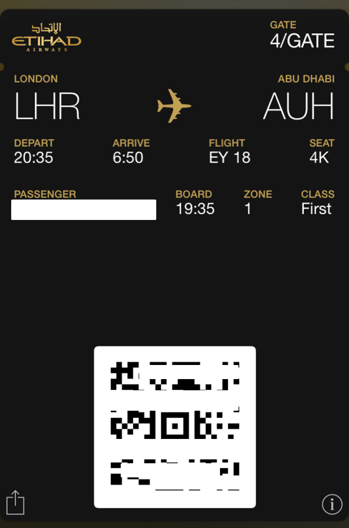 photo Electronic Boarding Pass
