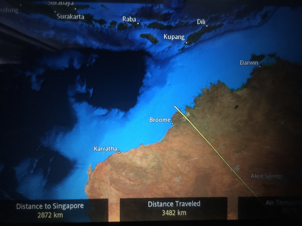Review of Singapore Airlines flight from Sydney to Singapore in Business