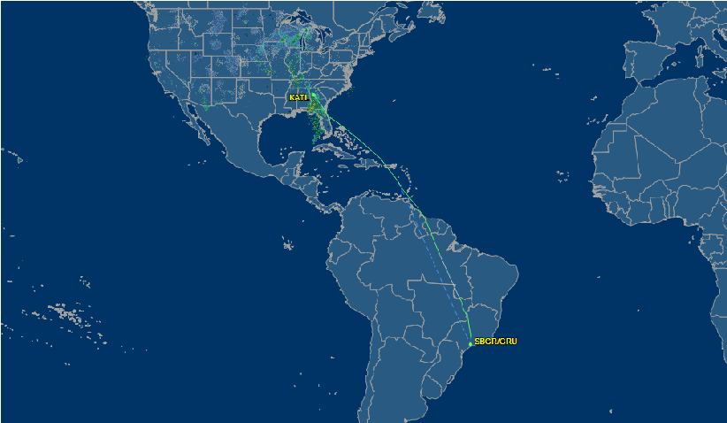Review of Delta Air Lines flight from Atlanta to Sao Paulo in Economy