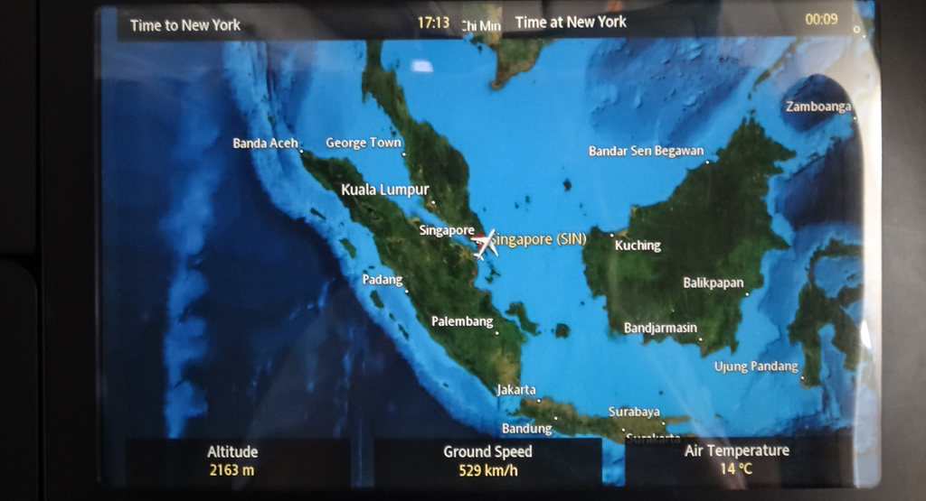 Review of Singapore Airlines flight from Singapore to Newark in Business