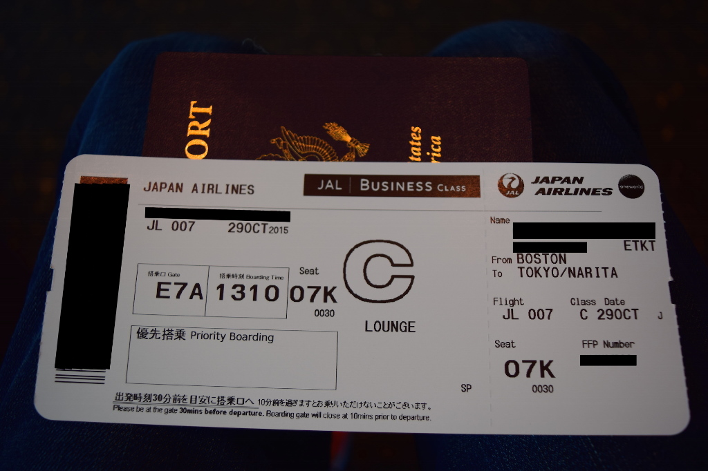 Review Of Japan Airlines Flight From Boston To Tokyo In Business