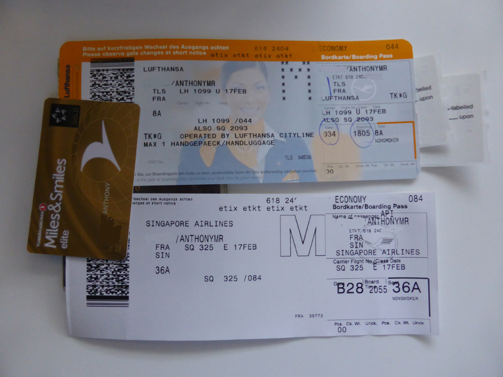 Review of Singapore Airlines flight from Frankfurt to Singapore in ...